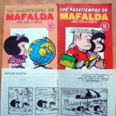 Cómics: MAFALDA 3 PASATIEMPOS INFANTILES Y TIRAS CÓMICAS QUINO, EDITORIAL NOVENO ARTE. Lote 26710594