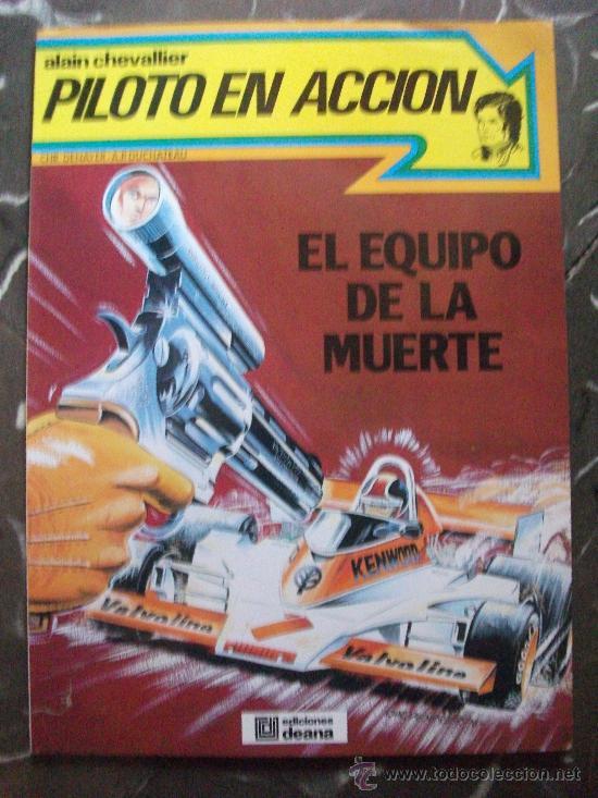 ALAIN CHEVALLIER PILOTO EN ACCION ALBUM TAPA RUSTICA (Tebeos y Comics Pendientes de Clasificar)