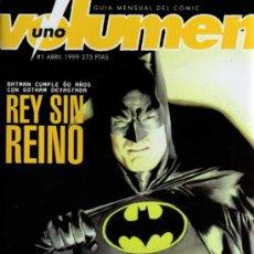 Cómics: VOLUMEN 1 - Nº 1 - GUIA MENSUAL DE COMIC - UNDER COMICS. Lote 27939456