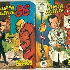 Cómics: SUPER AGENTE 86 COMPLETA - 2 EJEMPLARES - LA SUPER PISTOLA Y LA CAJITA MISTERIOSA - ED.LIPSIA 1967. Lote 28254279