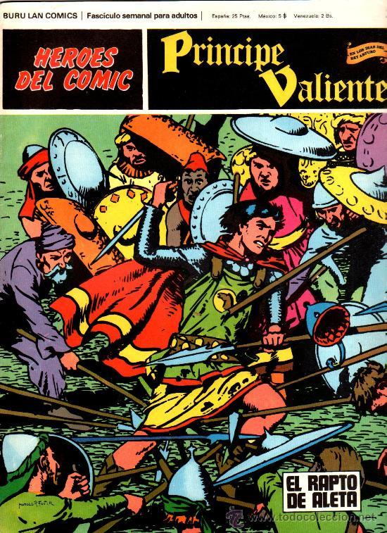 PRÍNCIPE VALIENTE Nº 22 , EDI. BURULAN 1972, HAROLD FOSTER, 30 X 23 CMS, COLOR , 24 PGS. (Tebeos y Comics - Buru-Lan - Principe Valiente)