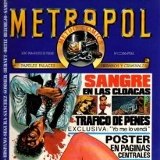 Cómics: METROPOL 3 NUMEROS 1, 5 (COMIC ROJO) Y 7 (COMIC NEGRO). Lote 28818095