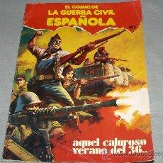 Cómics: COMICS DE LA GUERRA CIVIL ESPAÑOLA Nº 1. ED. PLAN 1979. PORTADA LÓPEZ ESPÍ. 150 PTS. RÚSTICA DIFÍCIL. Lote 43906012