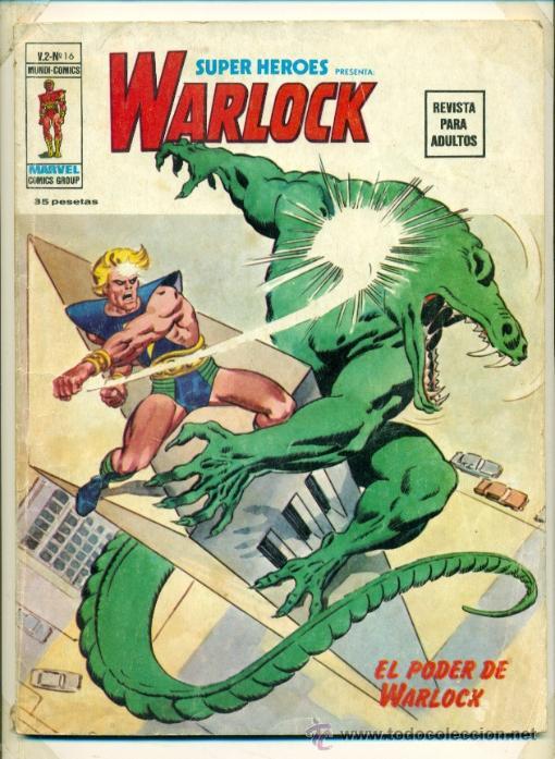 WARLOCK V.2 - Nº 16 - SUPER HEROES MUNDI COMICS VERTICE 1974 (Tebeos y Comics Pendientes de Clasificar)