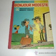 Cómics: AVENTURAS DE MODESTO Y POMPON BUENOS DIAS MODESTO FRANCES FRANQUÍN 1959 JOURNAL TINTIN BUEN ESTA. Lote 31862947