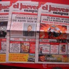 Cómics: EL JUEVES CAMPUS, LOTE, NÚMEROS 13, 15 Y 16. EDICIONES EL JUEVES, AÑO 2006. VER FOTOS. Lote 32263485