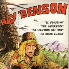 Cómics: COMIC RAY BENSON Nº 3, EL FUGITIVO, LOS NEGREROS, LA MANSION DEL SUR, LA GRAN LUCHA. Lote 32354701