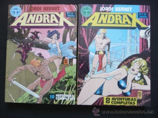 ANDRAX. JORDI BERNET. COMPLETA EN DOS TOMOS. TOUTAIN (Tebeos y Comics - Comics Pequeños Lotes de Conjunto)