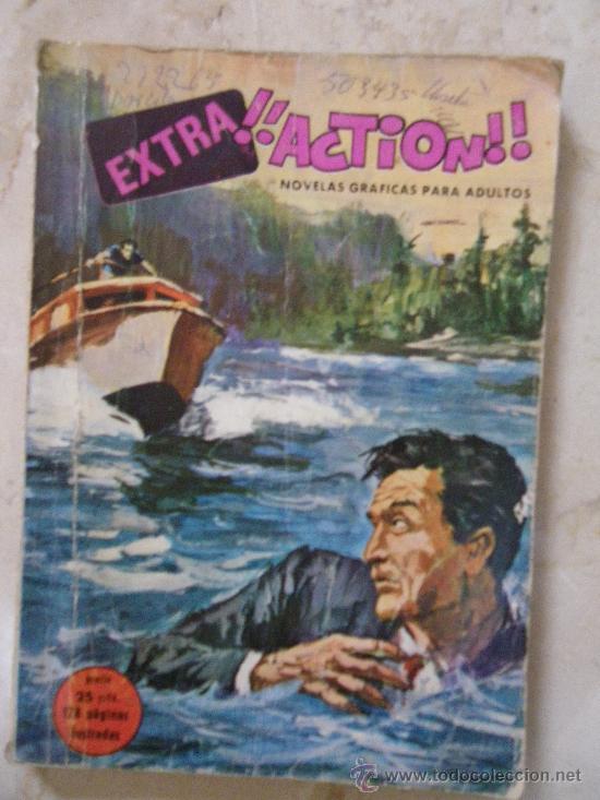 COMIC . EXTRA¡¡ACTION!! EDICIONES PETRONIO. 1969. (3 CÒMICS:POLICÍACO, DE GUERRA Y DEL OESTE) (Tebeos y Comics Pendientes de Clasificar)