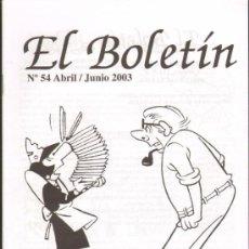 Cómics: TEBEOS-COMICS GOYO - BOLETIN - HOMENAJE A ESCOBAR - ZIPI Y ZAPE Nº 54 *AA99. Lote 32856861