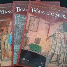 Cómics: 3 PRIMEROS TOMOS EL TRIÁNGULO SECRETO.NUEVOS SIN LEER.GRAN OFERTA GLÉNAT. Lote 47114622