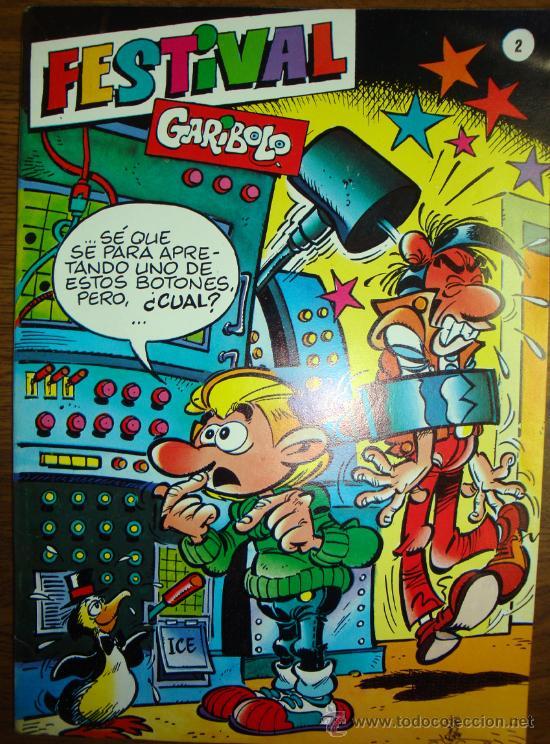 Cómics: lote 6 comic Garibolo nº 5-6-7-8-17-festival nº 2 1987 nuevos. - Foto 2 - 26288893