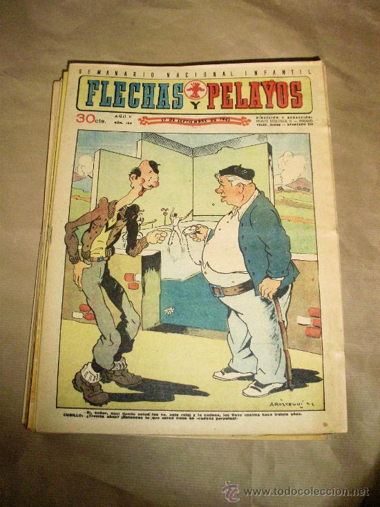 FLECHAS Y PELAYOS NºS DEL 161 AL 199 – LOTE 39 EJEMPLARES – MUY BUEN ESTADO (Tebeos y Comics Pendientes de Clasificar)