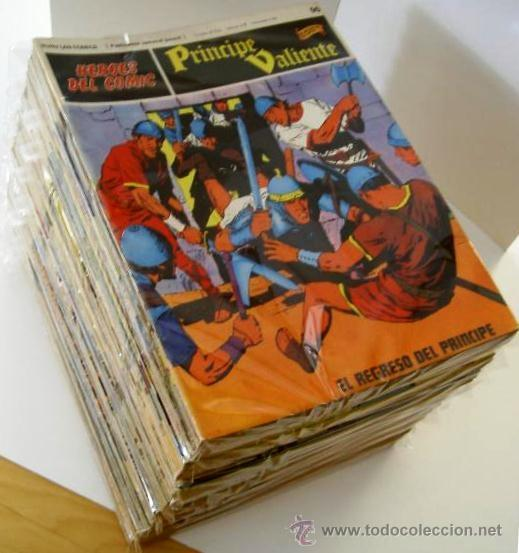 PRÍNCIPE VALIENTE COMPLETA DE HAROLD FOSTER. 1ª EDICIÓN AÑO 1972.HÉROES DEL COMIC.BURU LAN. (Tebeos y Comics - Buru-Lan - Principe Valiente)