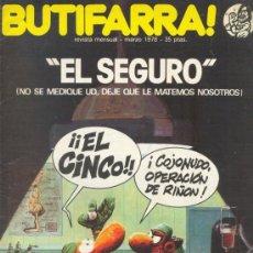 Cómics: BUTIFARRA - EL SEGURO. - INICIATIVAS EDITORIALES - MARZO DE 1978 - Nº 5 SEGUNDA ÉPOCA. Lote 35467833