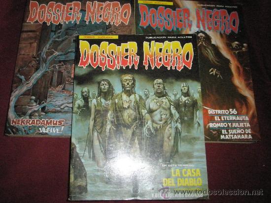 3 COMICS EXTRAS DE DOSSIER NEGRO Nº 1-4-5.-AÑOS 1970. (Tebeos y Comics Pendientes de Clasificar)