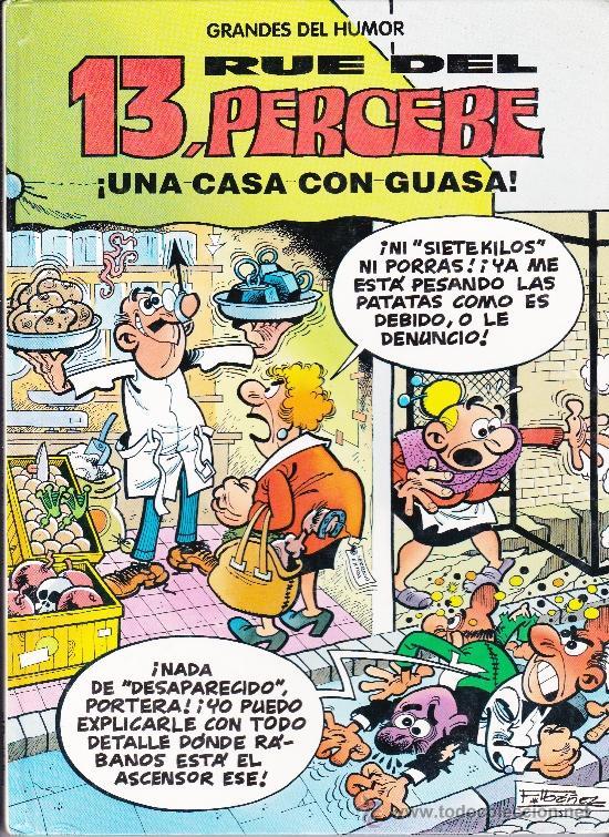 GRANDES DEL HUMOR,13 RUE DEL PERCEBE,UNA CASA CON GUASA Nº8 (Tebeos y Comics Pendientes de Clasificar)
