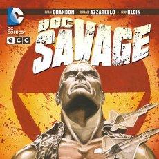 Cómics: DOC SAVAGE : INMERSO EN LA OSCURIDAD BRANDON & AZZARELLO Y KLEIN DC COMICS - ECC EDICIONES. Lote 36652014