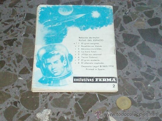 Cómics: RUTAS DEL ESPACIO. Nº 2: REBELIÓN EN VENUS. EXCLUSIVAS FERMA. - Foto 2 - 37242448