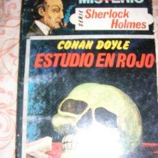 Cómics: ESTUDIO EN ROJO (CONAN DOYLE) COLEC. MISTERIO/ SERIE SHERLOCK HOLMES Nº 1/ ARGENTINA/ RARO!!!. Lote 37490742