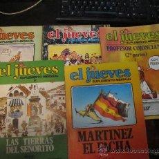 Cómics: M69 LOTE DE 5 MONOGRAFICOS DEL JUEVES COJONCIANO, MARTINEZ EL FACHA.... Lote 37810556