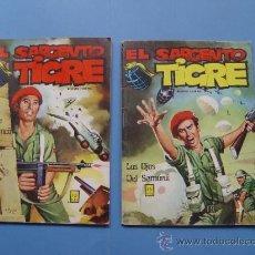 Cómics: EL SARGENTO TIGRE. LOTE 2 COMICS: 33 Y 36 (VILMAR, 1972) COLECCIONISTA ¡ORIGINALES!. Lote 37949424
