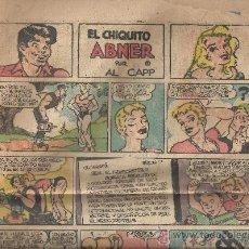 Cómics: HOJAS DE TEBEO SIN CLASIFICAR (- EL CHIQUITO. ABNER - PERIQUITO - ASI ES LA VIDA - REX MORGAN). Lote 38033710