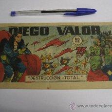 Comics: DIEGO VALOR Nº 52 / DESTRUCCIÓN TOTAL / CID ORIGINAL. Lote 38303833