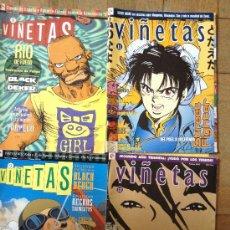 Cómics: VIÑETAS - NUMEROS 8 , 9 , 11 , 12. Lote 38365091