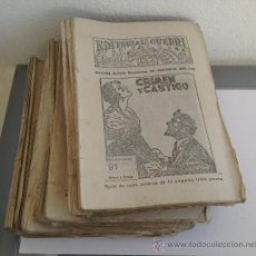 Cómics: LOTE DE 116 REVISTAS NOVELA CRIMEN Y CASTIGO EDITORIAL GUERRI S.A. AÑOS 30. Lote 38492196