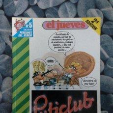 Cómics: PENDONES DEL HUMOR -5- PUTICLUB 2A EDICION. Lote 38974011