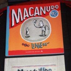 Cómics: MACANUDO..(( POR LINIERS)) TOMO Nº 2 + Nº3 ( MUY REBAJADOS ). Lote 39540190