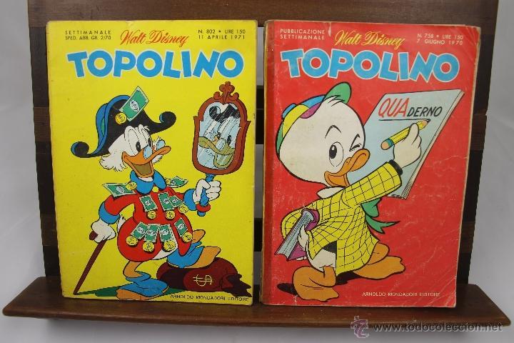 Cómics: 3881- TOPOLINO. VV.AA. EDIT. WALT DISNEY. COLECCION DE 8 NUMEROS. AÑOS 60/70. - Foto 2 - 39365743