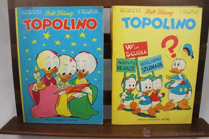 Cómics: 3881- TOPOLINO. VV.AA. EDIT. WALT DISNEY. COLECCION DE 8 NUMEROS. AÑOS 60/70. - Foto 3 - 39365743