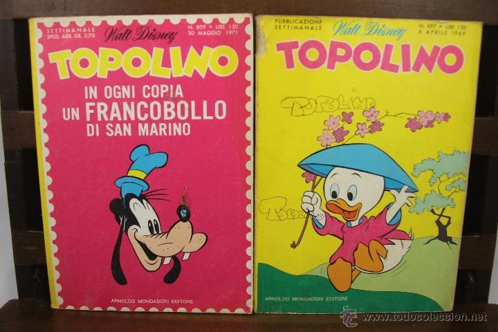 Cómics: 3881- TOPOLINO. VV.AA. EDIT. WALT DISNEY. COLECCION DE 8 NUMEROS. AÑOS 60/70. - Foto 4 - 39365743