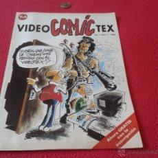 Cómics: COMIC TEBEO VIDEOCOMICTEX VIDEO COMIC TEX NUMERO 1 AÑO 1 1990 DIFICIL ESCASO EL TRIPAS FERGUSSON TV4. Lote 40373859