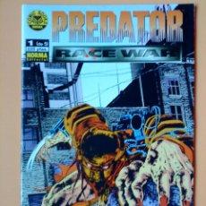 Cómics: PREDATOR. RACE WAR. COMIC BOOKS, Nº 1 (DE 5) - ANDREW VACHSS. RANDY STRADLEY. JORDAN RASKIN. Lote 34892035