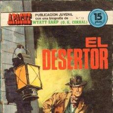 Cómics: TEBEOS-COMICS GOYO - APACHE - Nº 13 - ANCEO - 1974 - WYATT EARP - OK. CORRAL *AA99. Lote 40501777