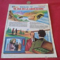 Cómics: COLECCIONABLE SERIE V LOS LAGARTOS TELEINDISCRETA CAPITULO 6 EL DIA DE LA LIBERACION ESCASO DIFICIL . Lote 40683916