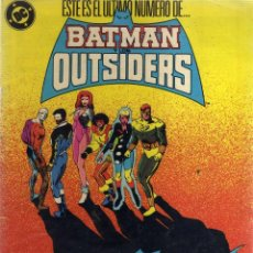 Cómics: BATMAN Y LOS OUTSIDERS ÚLTIMO NÚMERO - BAT 2. Lote 41512434