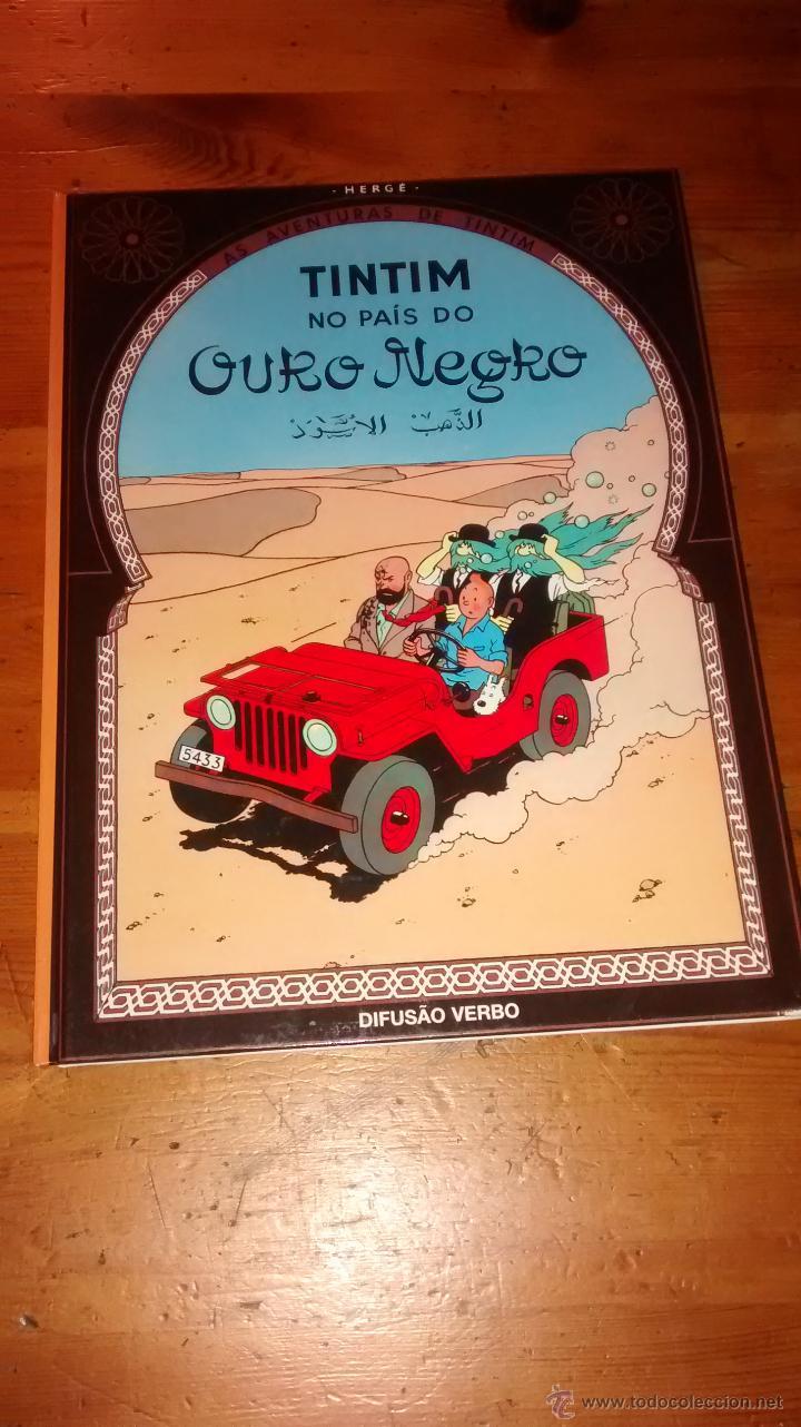 COMIC / TINTIM NO PAIS DO OURO NEGRO / HERGE / REEDICIÓN 2003 (Tebeos y Comics Pendientes de Clasificar)