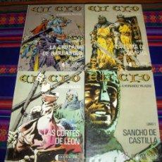 Cómics: IMÁGENES DE LA HISTORIA 6 AL 9: EL CID COMPLETA 4 LIBROS. IKUSAGER 1982 TAPA DURA HERNÁNDEZ PALACIOS. Lote 42280230