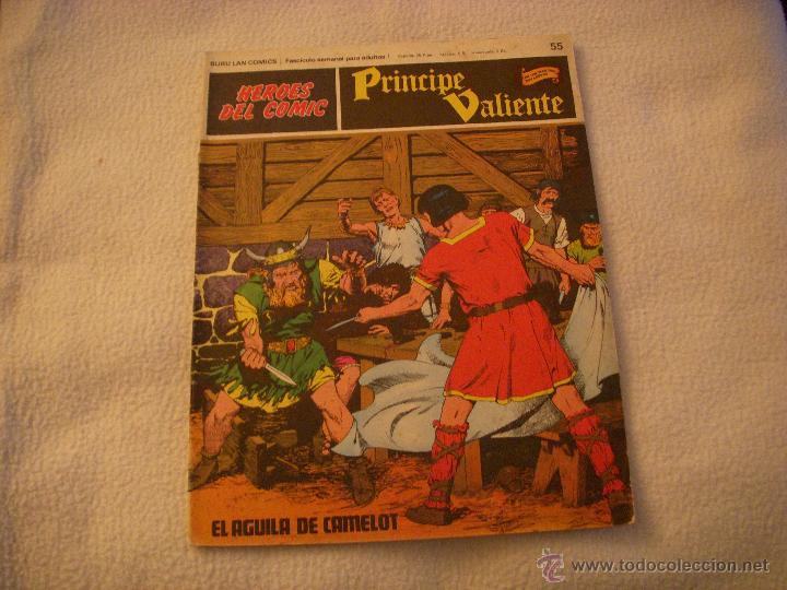 HEROES DEL COMIC, PRINCIPE VALIENTE Nº 55, EDITORIAL BURULAN (Tebeos y Comics - Buru-Lan - Principe Valiente)