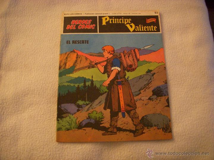 HEROES DEL COMIC, PRINCIPE VALIENTE Nº 93, EDITORIAL BURULAN (Tebeos y Comics - Buru-Lan - Principe Valiente)