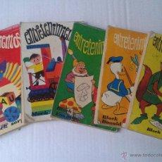 Cómics: LOTE 5 BLOCKS ENTRETENIMIENTOS 1972. Lote 31392764