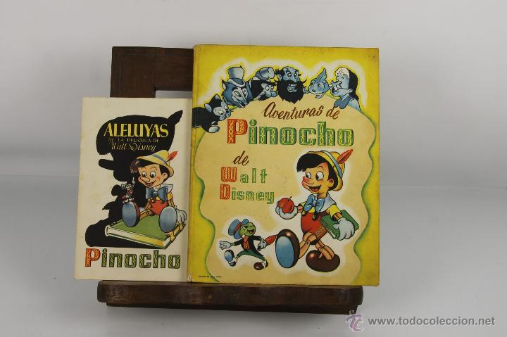 D-349. AVENTURAS DE PINOCHO Y ALELUYAS DE LA PELICULA. WALT DISNEY. EDIT. TRIUNFO. S/F. (Tebeos y Comics Pendientes de Clasificar)