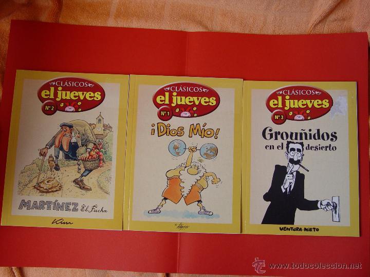 LOTE 3 COMICS. CLÁSICOS EL JUEVES. NºS. 1, 2 Y 3. (EL JUEVES, 2006) ¡COLECCIONISTA! (Tebeos y Comics - Comics Pequeños Lotes de Conjunto)