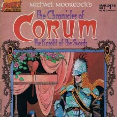 Cómics: THE CHRONICLES OF CORUM THE KNIGHT OF THE SWORDS FIRST COMICS DELUXE SERIES NO. 2 1987. Lote 43008620