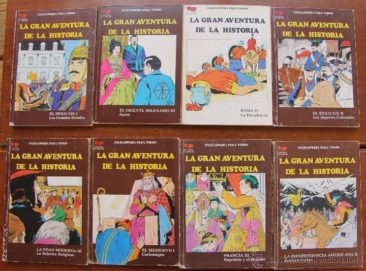 LA GRAN AVENTURA DE LA HISTORIA - EN COMICS – LOTE DE 8 NUMEROS (Tebeos y Comics - Comics Colecciones y Lotes Avanzados)