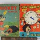 Cómics: 4687- MICKEY CAMPEON Y QUE HORA ES DE LA FAMILIA TELERIN. 2 CUENTOS. 1935/1965.. Lote 43529775